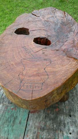 Vendo mesa centro rustica bolacha de tronco - Foto 4