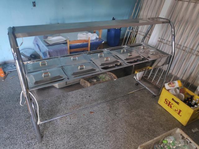 Buffet self service 10 cubas quente - Foto 4