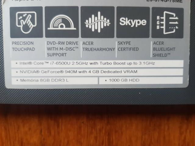 Acer i7 nvidia 940m - Foto 3