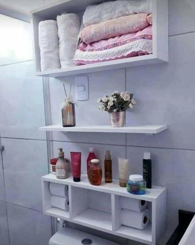 Kit De Nichos Para Banheiro 100 Mdf