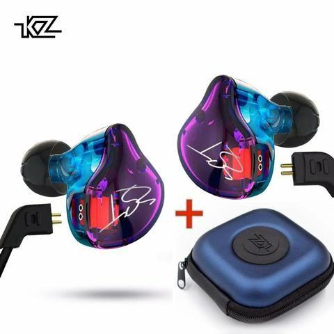 Fone Kz zst pro dual drive prof bass para retorno de palco grave pesado