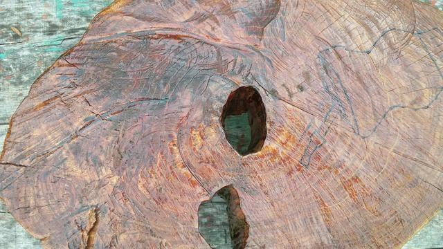 Vendo mesa centro rustica bolacha de tronco - Foto 2