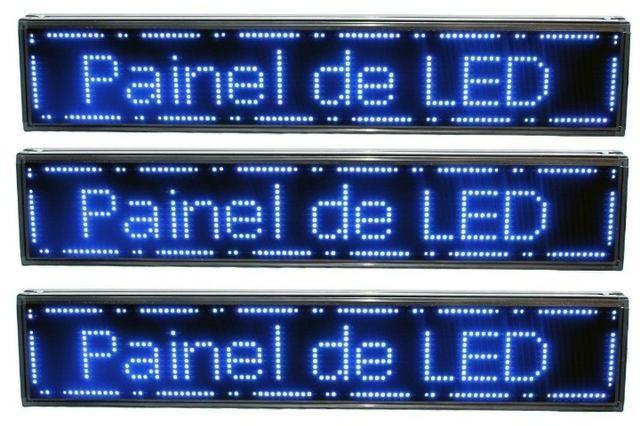 Letreiro Digital Painel de Led Azul ou Vermelho Luminoso 1,30 x 0,20m c/ Usb (Novo) - Foto 4