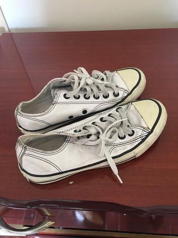 834a4609316 All star branco converse couro usado