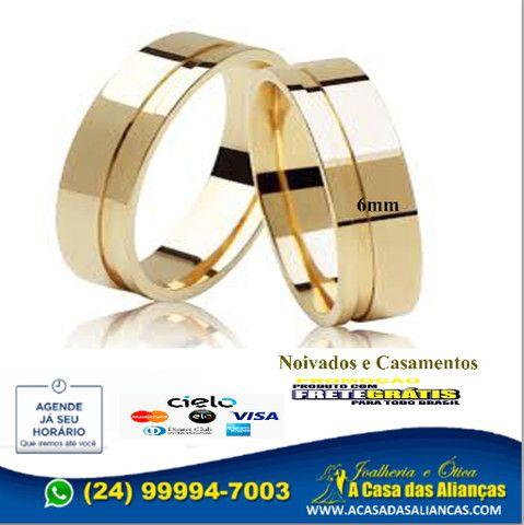 Lindas Alianças ouro 18k _24_ *