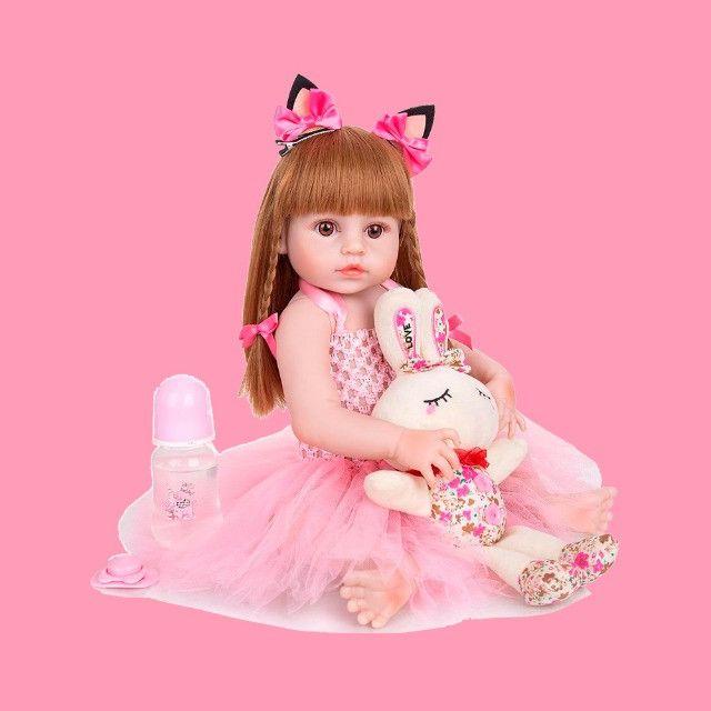 Bebe Boneca Baby Reborn Barato Grande Realista Completa - Foto 2