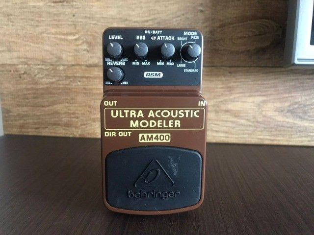 Pedal Ultra Acoustic AM400 Behringer (Simulador Acústico) - Foto 2
