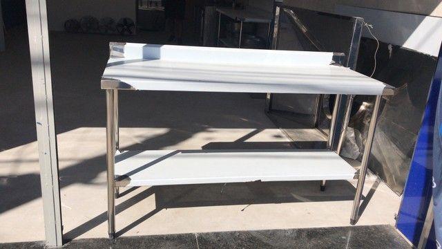Bancada de aço inox mesa de aço inox  - Foto 6