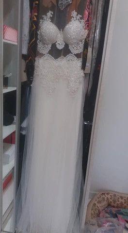 Vende-se Vestido de Noiva  - Foto 3