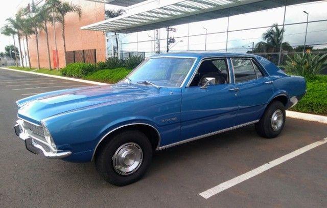 Ford Maverick 4 Portas Azul 1975 Original, 3º Dono, Raridade - Foto 3