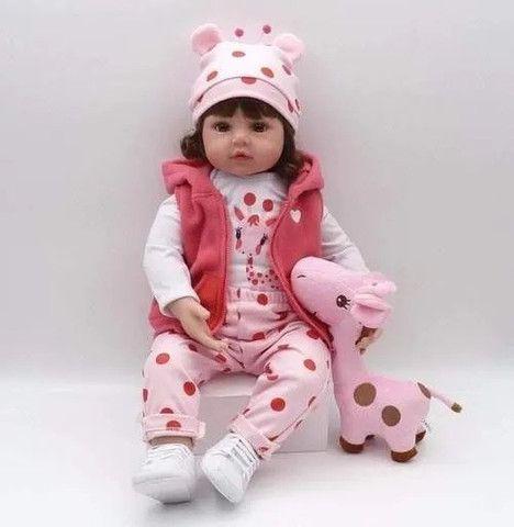 Bebe Boneca Baby Reborn Barato Grande Realista Completa Valentina - Foto 3