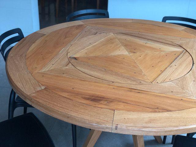 Mesa em madeira Peroba redonda