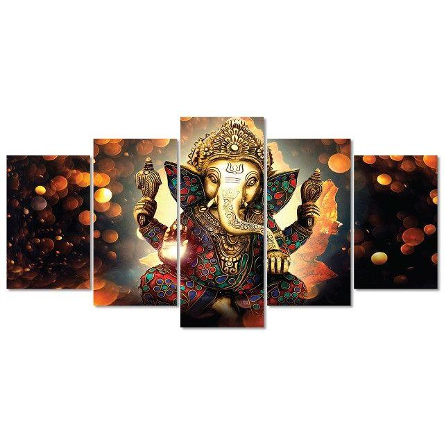 Quadro decorativo Lord Ganesha Deus 154x65 - Grande - Foto 5