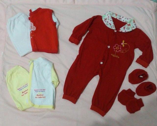 Roupinhas e fralda para bebê RN/P  - Foto 4