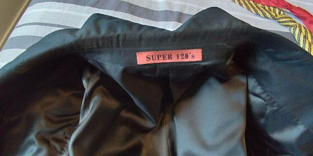 Terno com Calça Preto Navaratti Modelo Super 120s - Foto 4