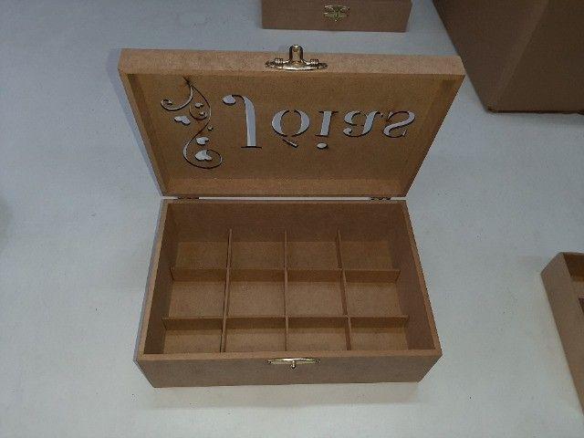 Porta joias com divisorias removiveis - Foto 3