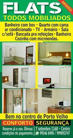 Flats mobiliados no Centro R$ 800.00. próximo a Lojas Marisa