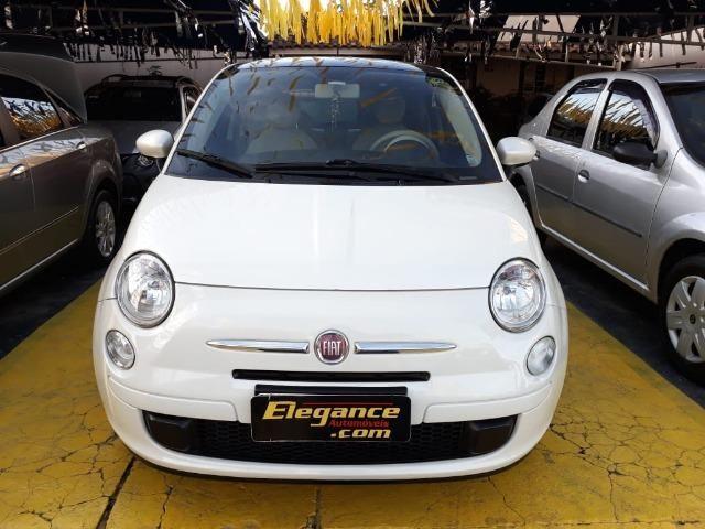 Fiat 500 Perola!! Financio Sem Ent. nao ka c3 onix 208 kwid up hb20 cooper mobi uno gol - Foto 5