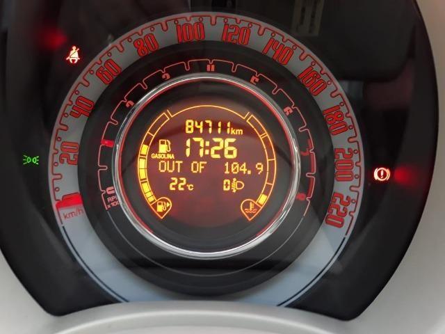 Fiat 500 Perola!! Financio Sem Ent. nao ka c3 onix 208 kwid up hb20 cooper mobi uno gol - Foto 12