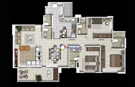 Apartamento com 3 dormitórios à venda, 111 m² por R$ 575.000,00 - Serrinha - Goiânia/GO - Foto 15