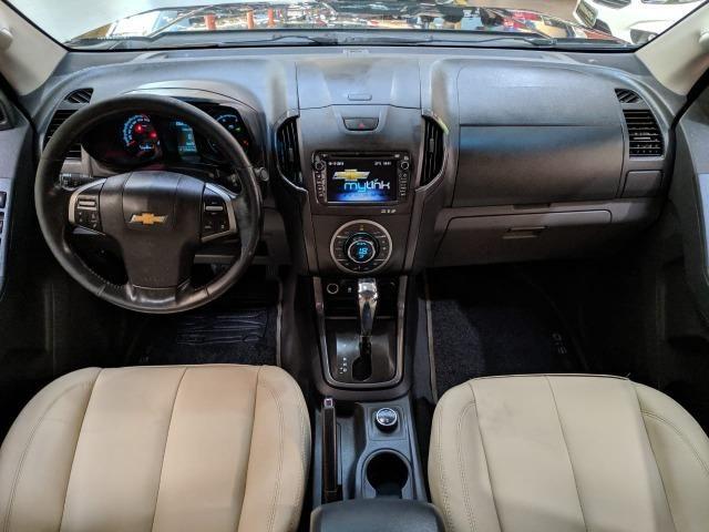 Chevrolet S10 LTZ 2.8 Diesel Cab Dupla 2014 Automática Preta (Completa + Couro) - Foto 8