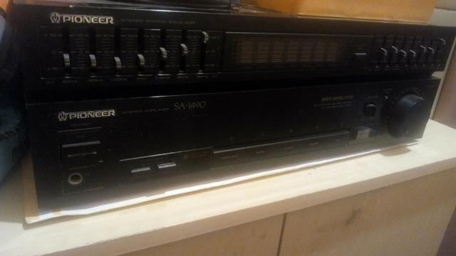 Amplificador pioneer com caixas