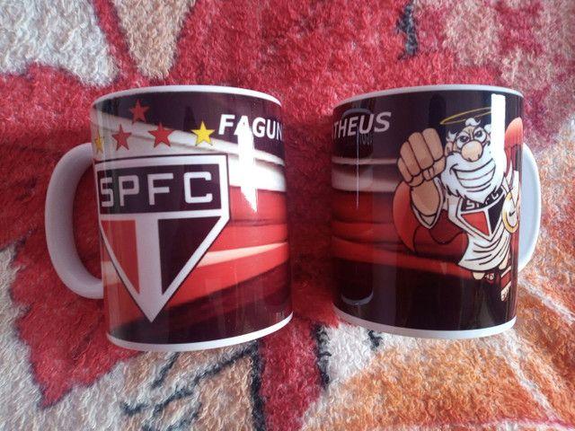 Caneca de porcelana São Paulo FC  - Foto 2