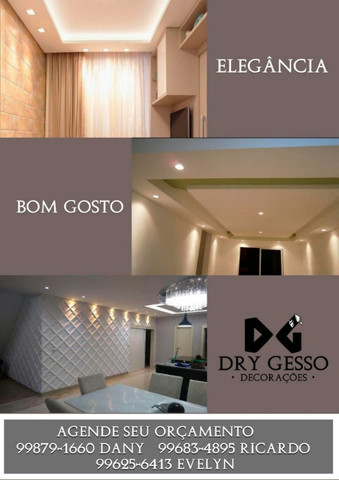 Dry gesso decoracoes