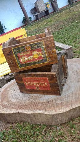 Caixote Vintage cerveja - Foto 2
