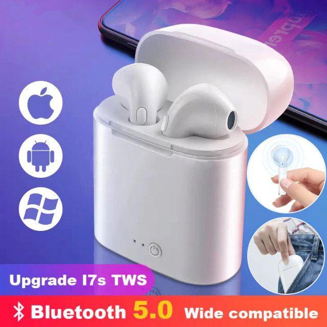 Fone de ouvido i7 tws i7s mini, wireless, bluetooth, headset, com caixa carregadora - Foto 6