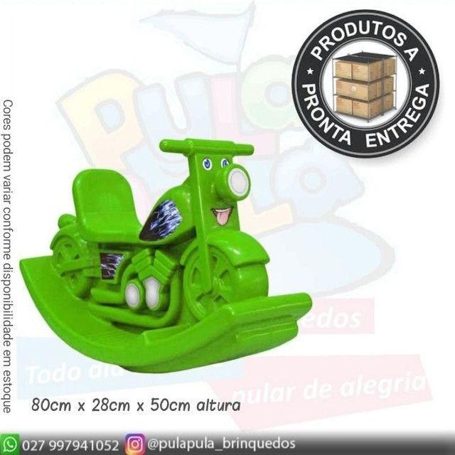 Gangorra cavalinho-vermelha Verde, Amarela. Para Playground Direto da fabrica - Foto 5
