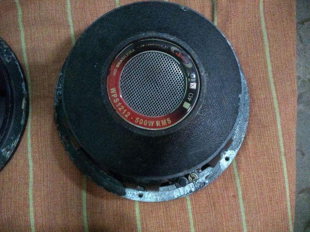 2 alto falante de 12 de 500 RMS estão funcionando perfeitamente - Foto 4