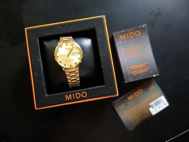 Relógio Mido Commander banhado à ouro - Foto 3