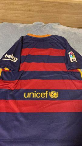 Camisa Barcelona (2016) Oficial (Tamanho G INFANTIL) - Foto 2