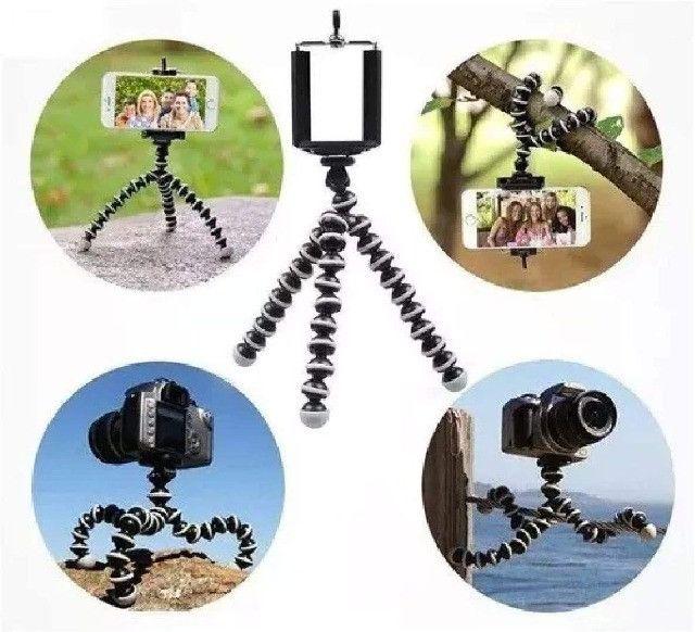 Tripé Para Câmera e Celular Octupus