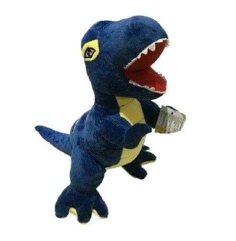 Bichinho De Pelúcia Dinossauro T-rex Aveludado 60cm - Foto 2