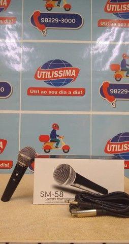 Microfone SM-58 com cabo ? Entrega Gratis  - Foto 2