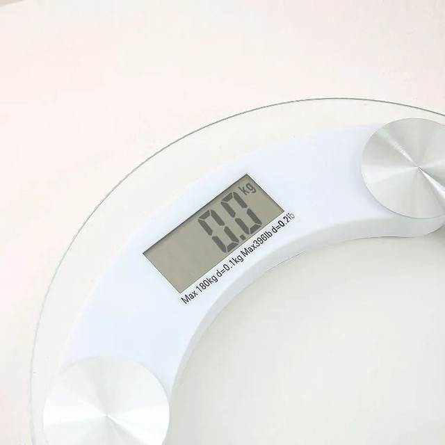 Balança Redonda Digital De Vidro Temperado Até 180 Kilos<br><br>