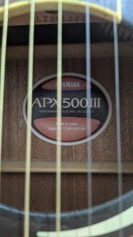 Violão APX 500 III - Yamaha + Acessórios - Excelente - Foto 5