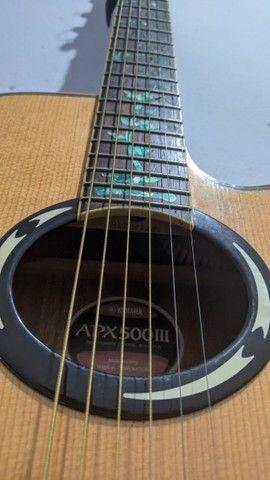 Violão APX 500 III - Yamaha + Acessórios - Excelente - Foto 4