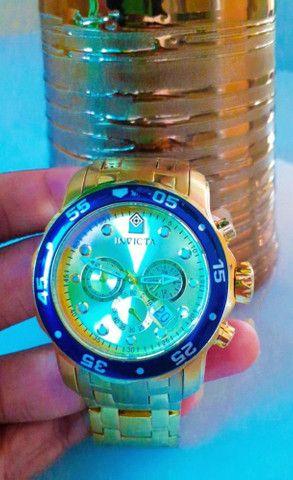 Relógio Invicta Dourado 18k