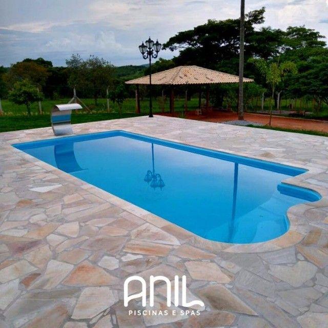 TA- Piscina de fibra 7 metros - Fábrica Anil piscina Divinópolis - Foto 2