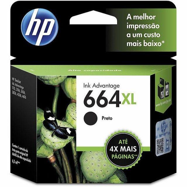 KIT CARTUCHO HP 664XL - PRETO E COLORIDO - ORIGINAL - Foto 3