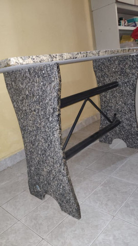 Mesa de Mamore com 6 cadeiras - Foto 4