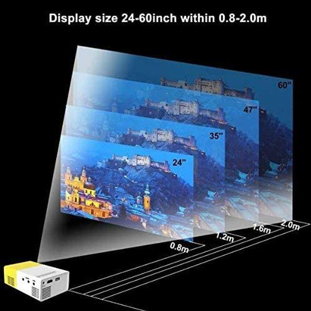 Mini Projetor portátil led Yg300 Hdmi TV USB Cinema de Vídeo<br><br> - Foto 2