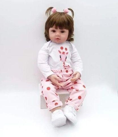 Bebe Boneca Baby Reborn Barato Grande Realista Completa Valentina - Foto 5