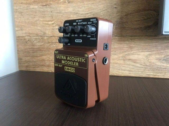 Pedal Ultra Acoustic AM400 Behringer (Simulador Acústico) - Foto 3