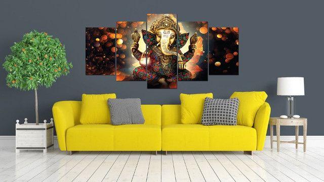 Quadro decorativo Lord Ganesha Deus 154x65 - Grande - Foto 4