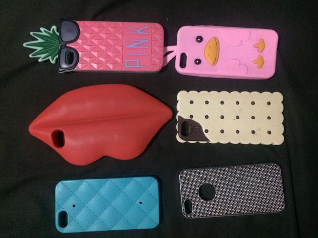 6 capas do iPhone 5S R$ 50