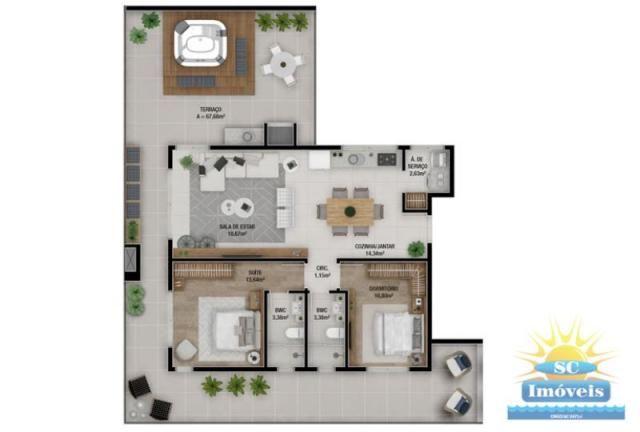Apartamento à venda com 2 dormitórios em Ingleses, Florianopolis cod:14329 - Foto 3